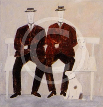 two men on a bench 1995